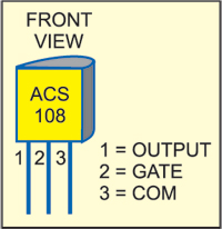 Picture of Pin Configuration of ACS108