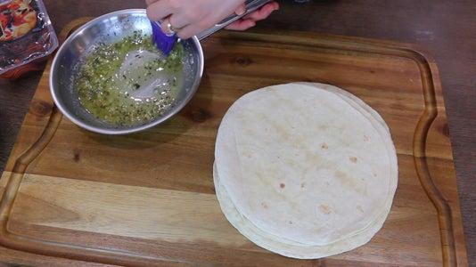 Brush Butter Onto Tortilla