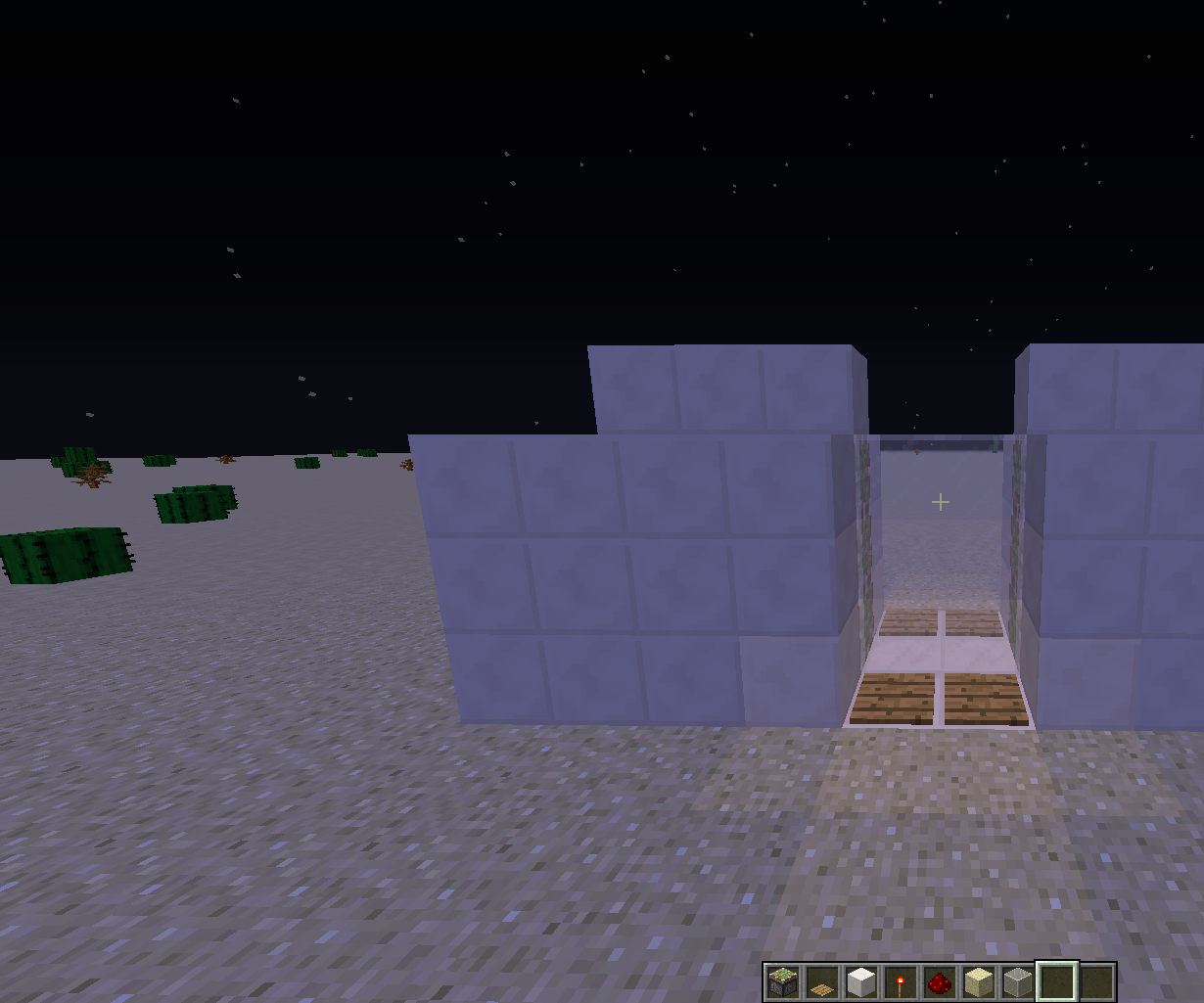 Instructions: how to make sliding doors in Meincraft