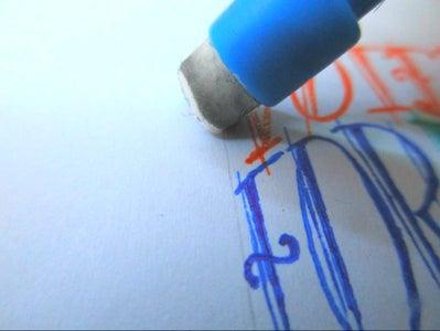 Erase the Pencil Lines