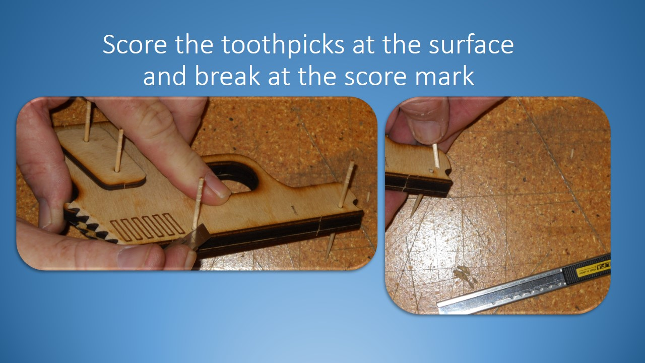 Picture of Break Off the Toothpicks, Glue and Sand the Ends.