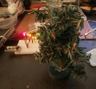 Christmas Tree - Mini With LEDs & USB