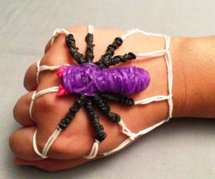 Spider Rubber Band Bracelet: No Rainbow Loom Needed