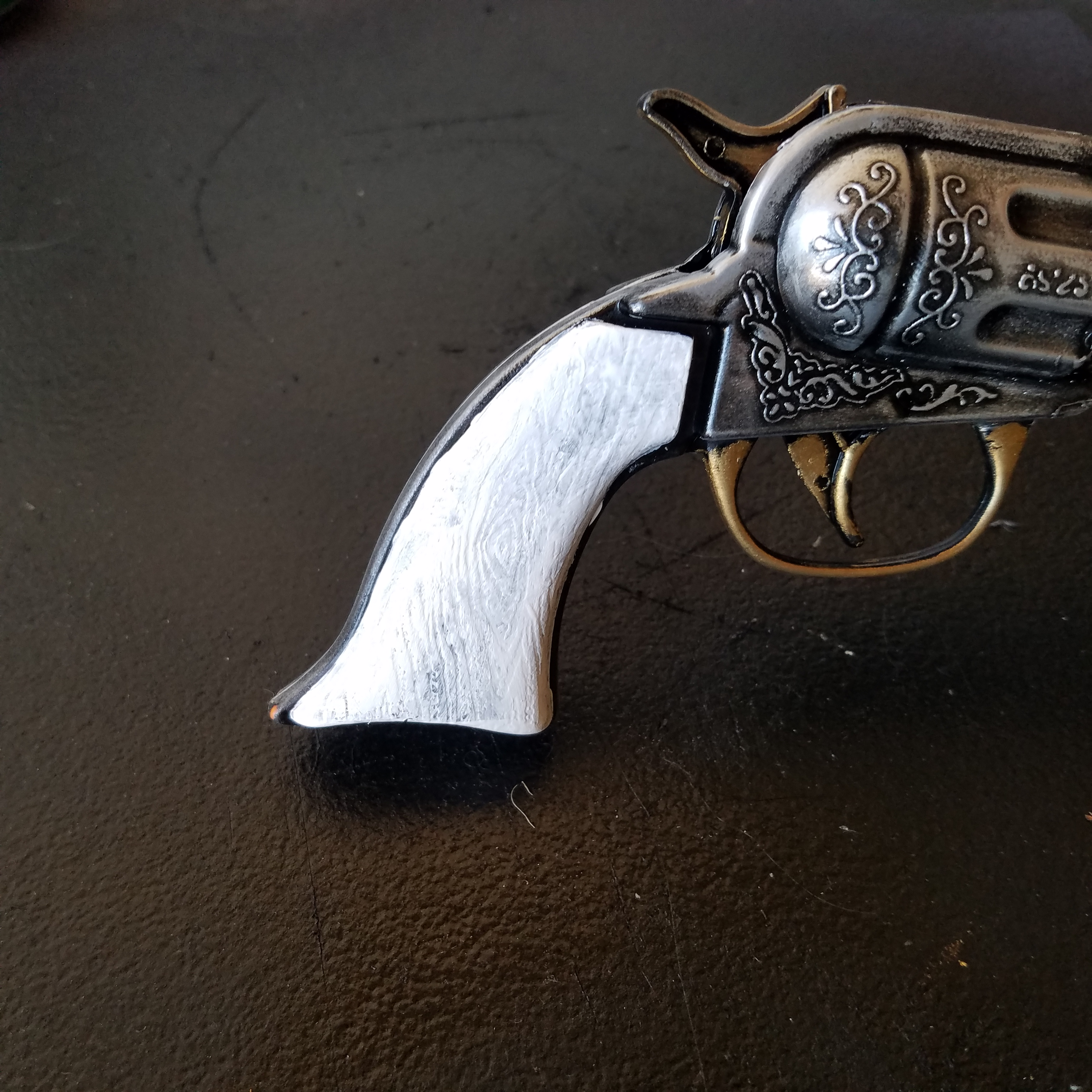 Picture of Paint the Pistol Grips White: