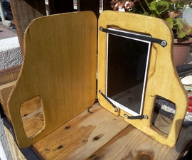 Tablet wood cover with grip