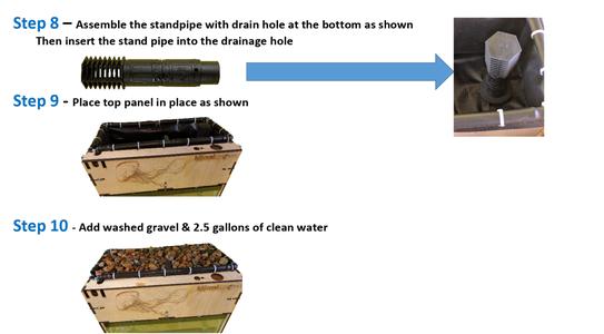 Standpipe, Gravel & Water