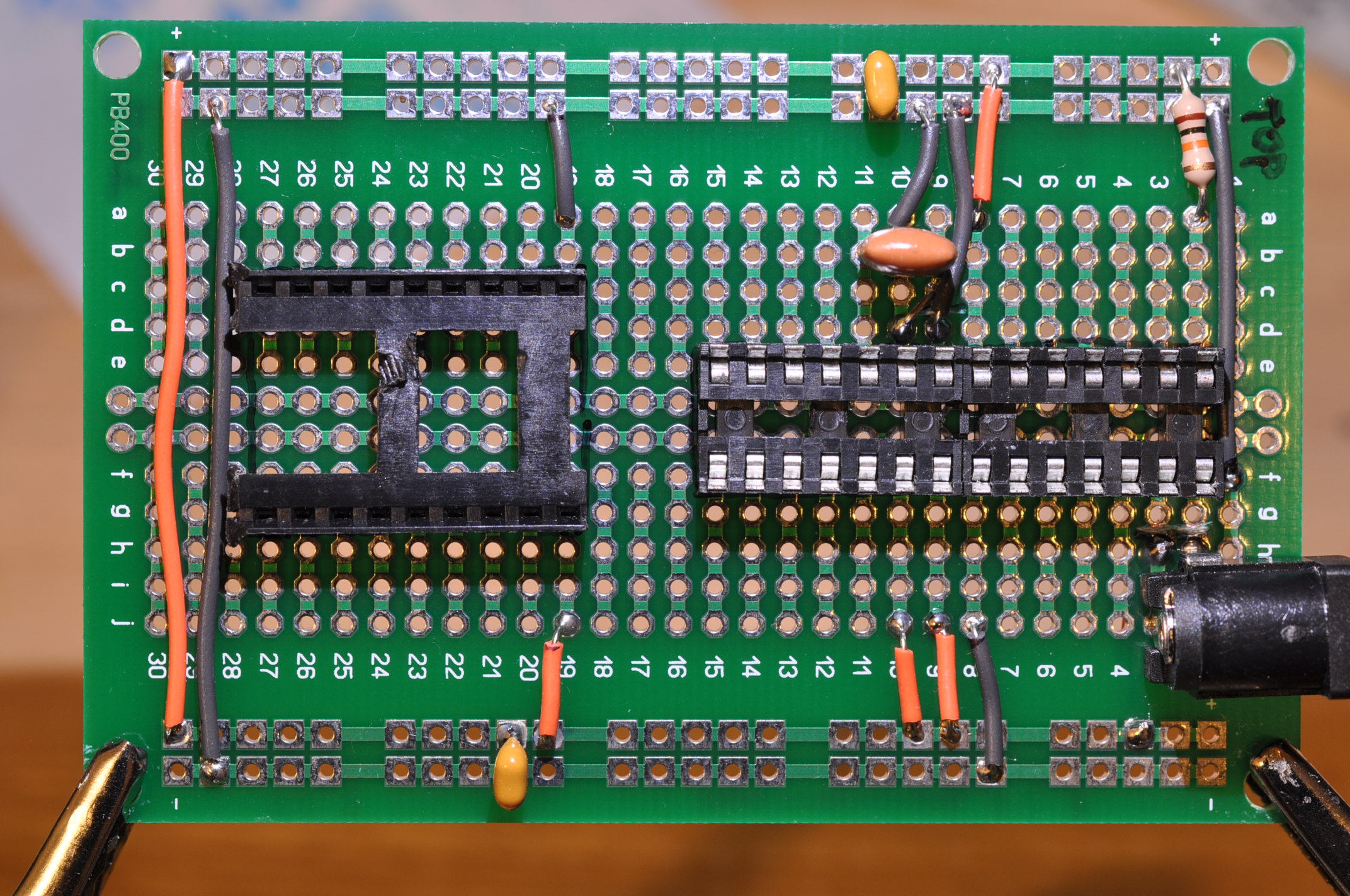 Picture of Solder the Resonator and Bypass Caps