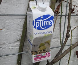 Recycled Milkcarton Birdseed Dispencer