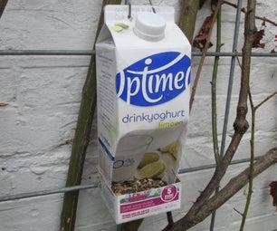 Recycled Milkcarton Birdseed Dispencer