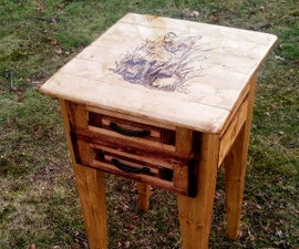 Nightstand with Wood-Burning Created with 99% 2x4 Lumber