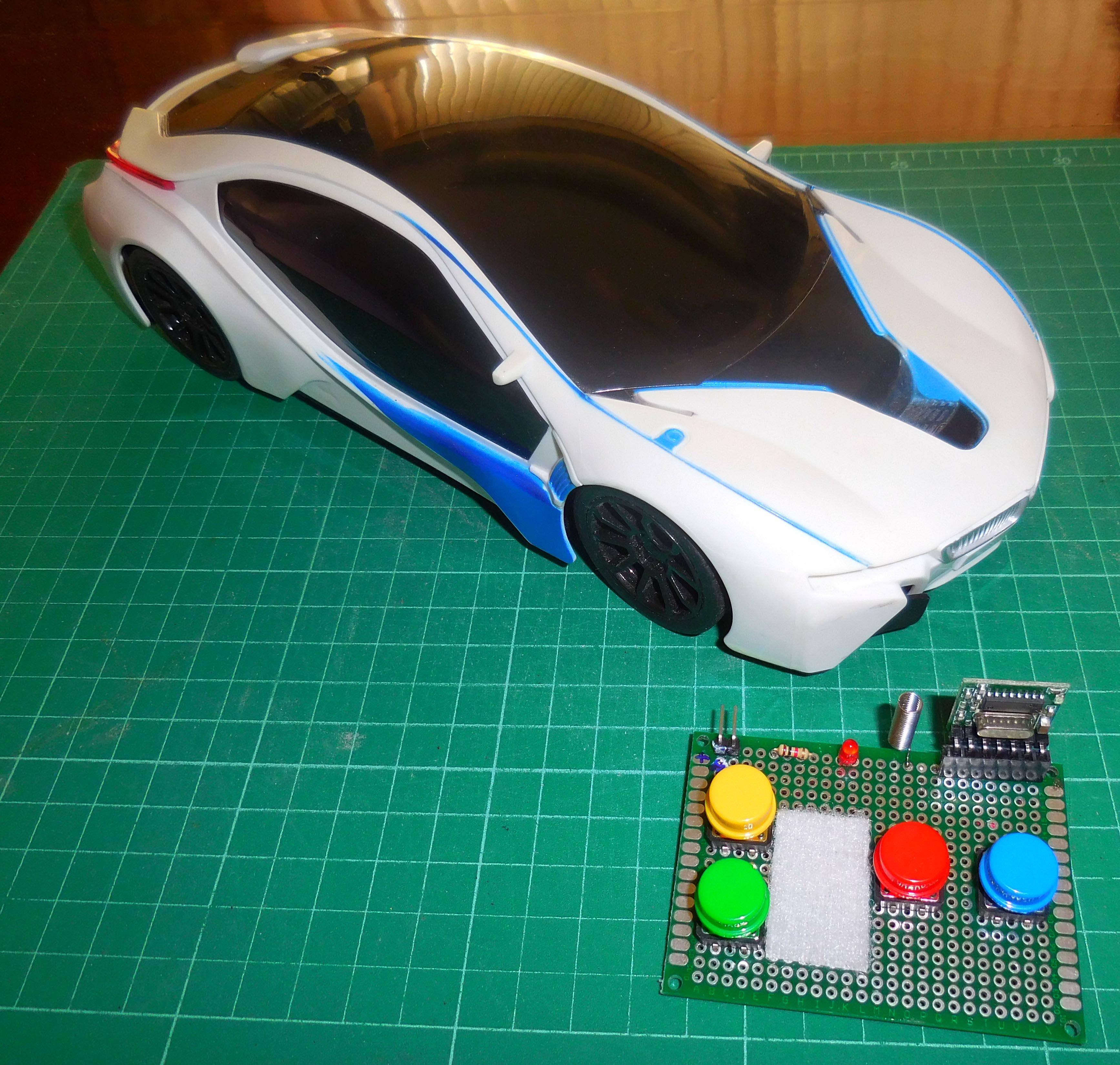 Picture of 4-CH 433 Mhz Module RC Car {No Coding Rx}