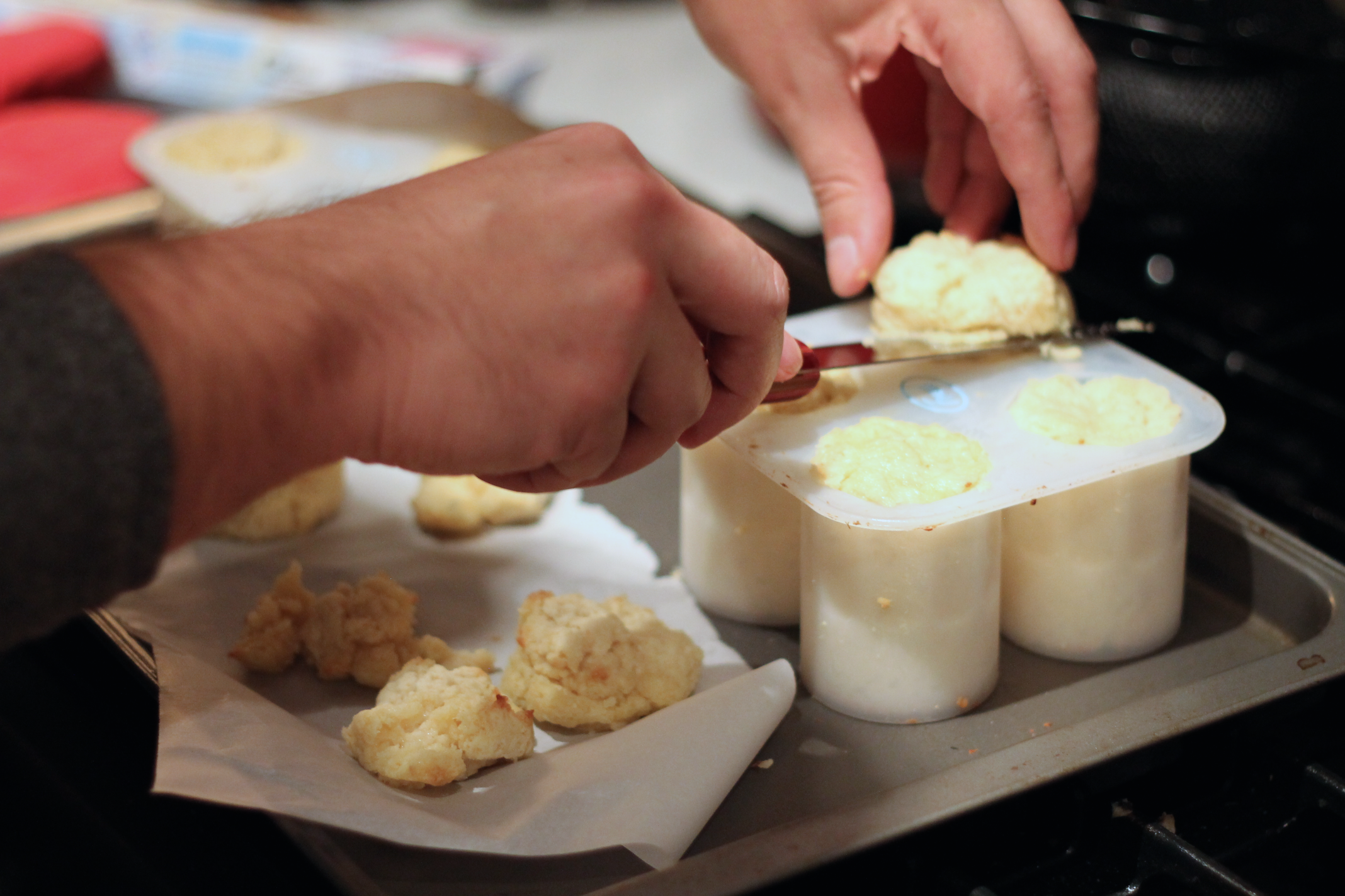 Picture of Making the Shot Cakes