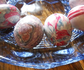"""Silk Dyed Eggs, """"Tie-Dyed"""""""