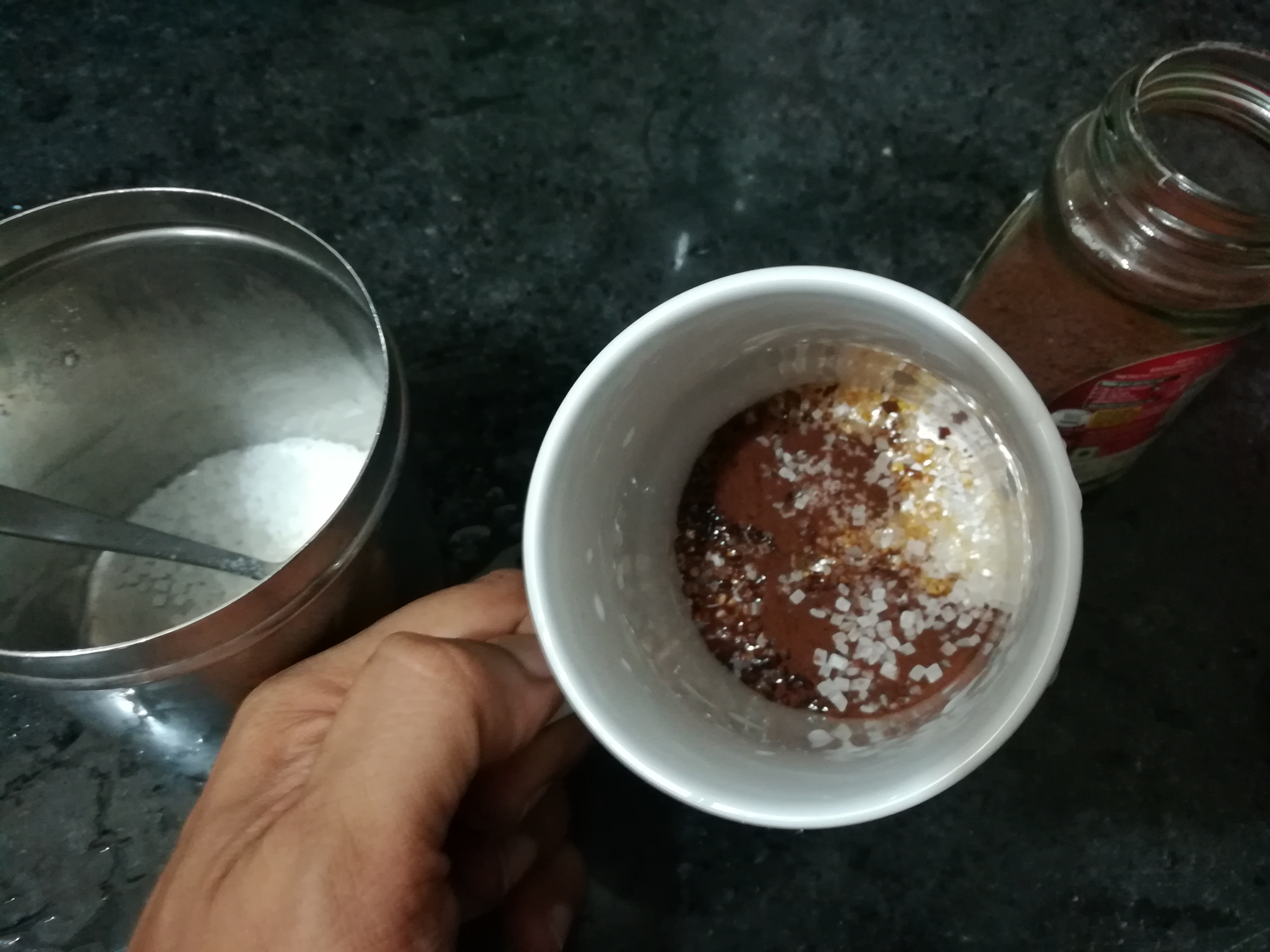Picture of Coffee Powder, Sugar and 4 Drops of Water