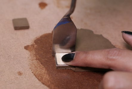 Cut Square Shape Clay