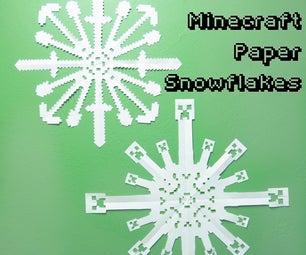 Minecraft Paper Snowflakes
