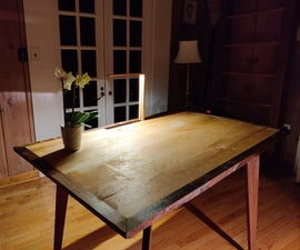 Table With Hidden Lamp