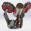 Omni Wheel Robot Gripper Mechanism (Concept)