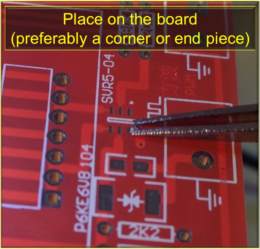 Picture of Place the Piece of Solder