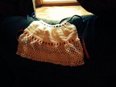 Crocheted Halter Swim Top