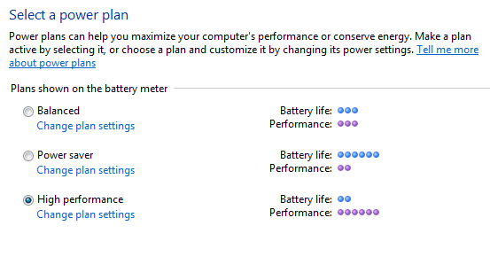 Picture of Power Settings