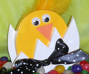 CHICK IN EGG CRAFT:  Made From MDF