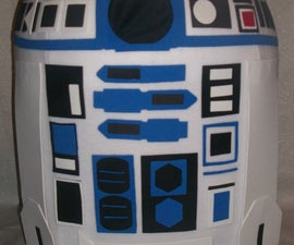DIY Homemade R2D2 Star Wars Halloween Costume
