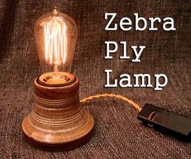 Zebra Ply Lamp