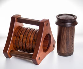 Segmented Wooden Cryptex