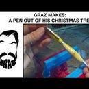 A Pen Made Out of My Christmas Tree!
