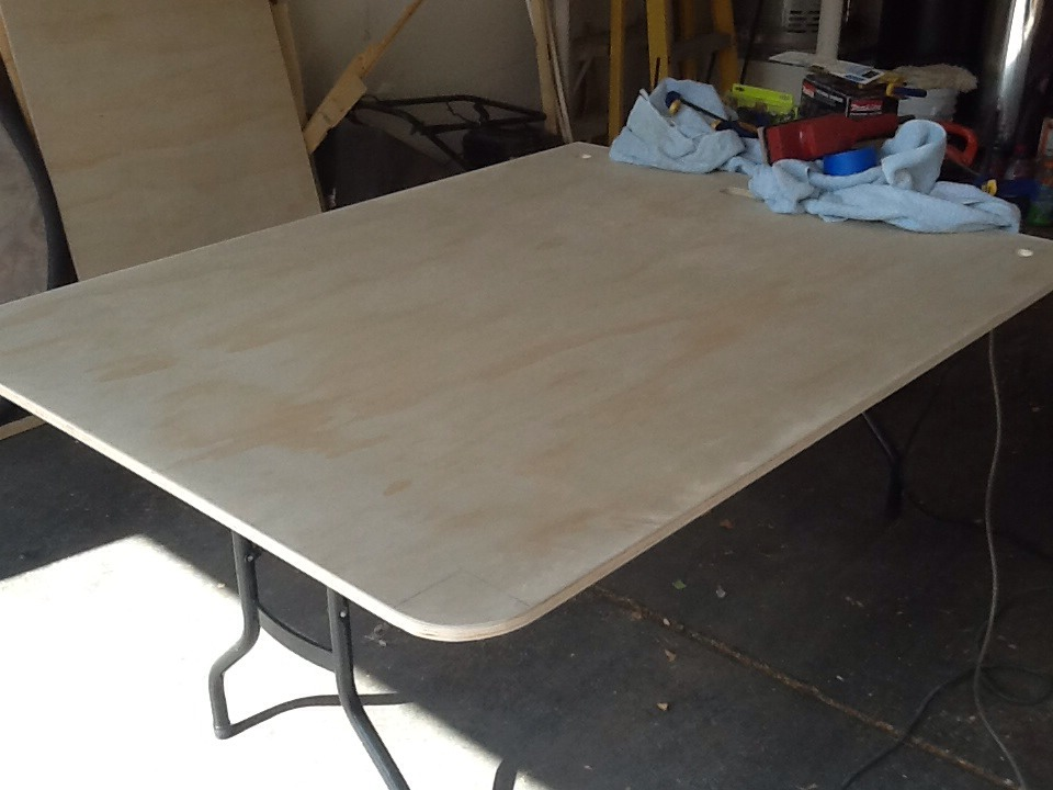 Picture of Cut Your Plywood to Your Desired Table Size.