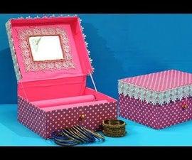 Easy Recycled Craft - Beautiful Cardboard Box Bangle Stand!