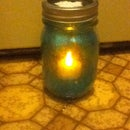 Glitter Jar Candle Holder