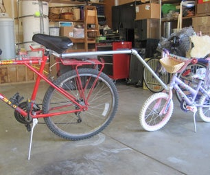Failed Attempt at a Tow Bar for Child's Bicycle
