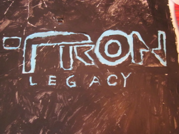 Picture of Acrylic Painted Tron Legacy Poster