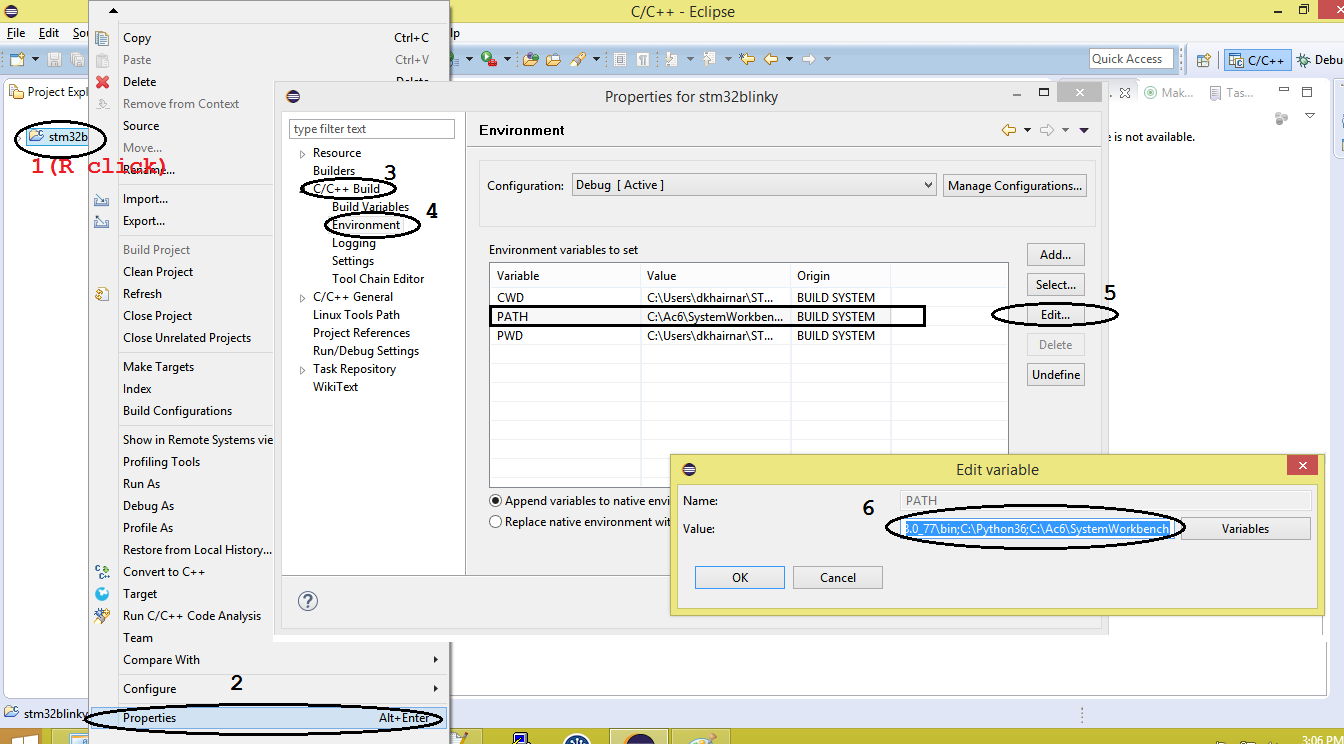 Picture of Configure Project Path