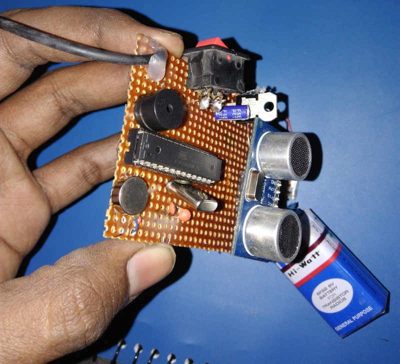 Picture of Parts Required for Haptic Proximity Module: