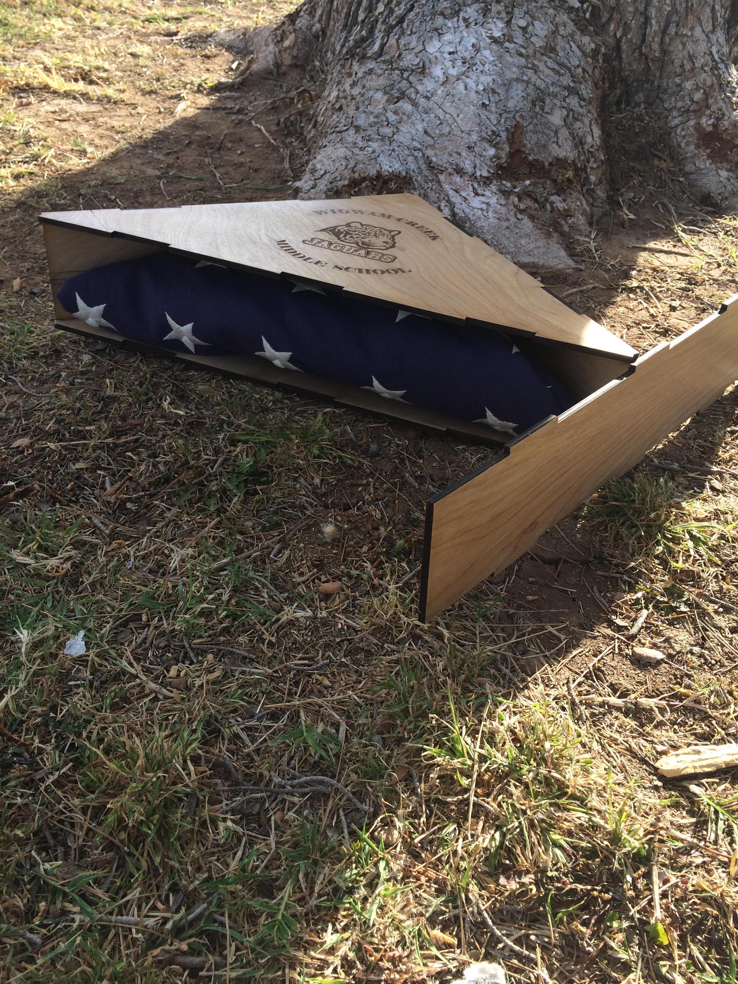 Picture of Custom Designed Flag Burial Case