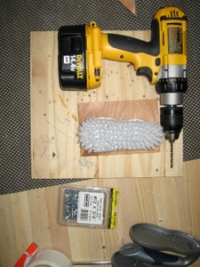 Attach Brushes to the Plywood