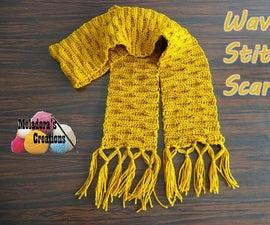 Wave Stitch Scarf – Free Crochet Pattern