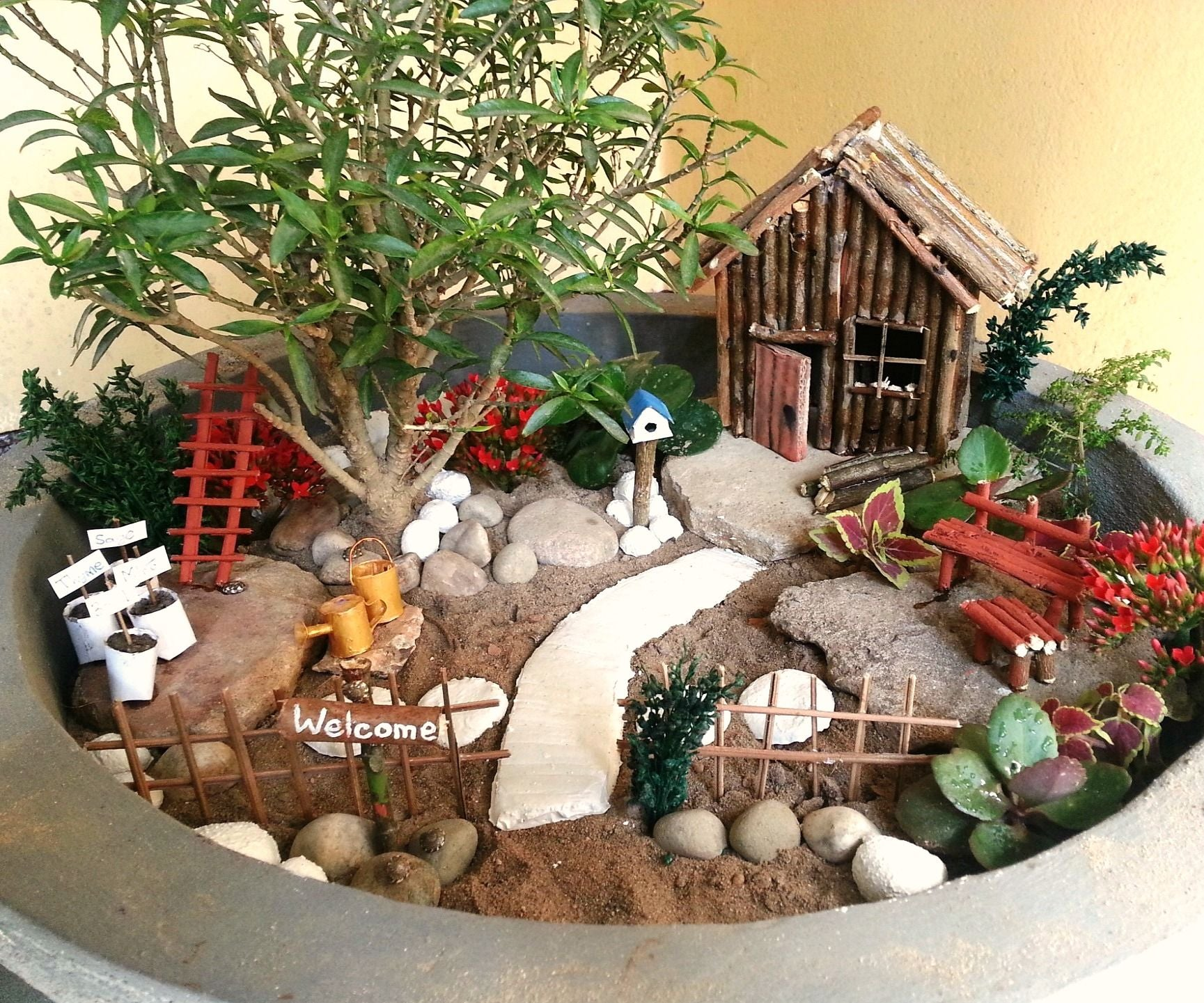 Gnome In Garden: DIY Miniature Garden Accessories: 15 Steps (with Pictures