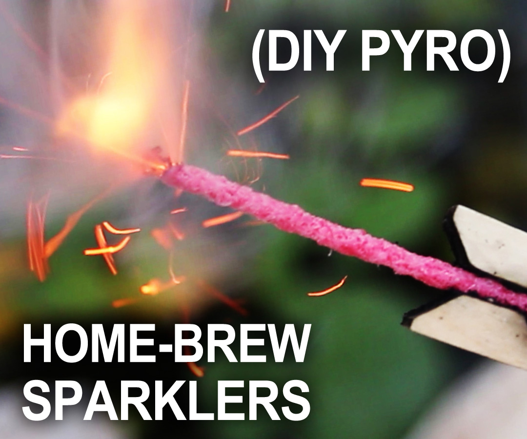 Picture of Homemade Sparklers for the 4th of July! - (Improvised Hand-Held Fireworks)