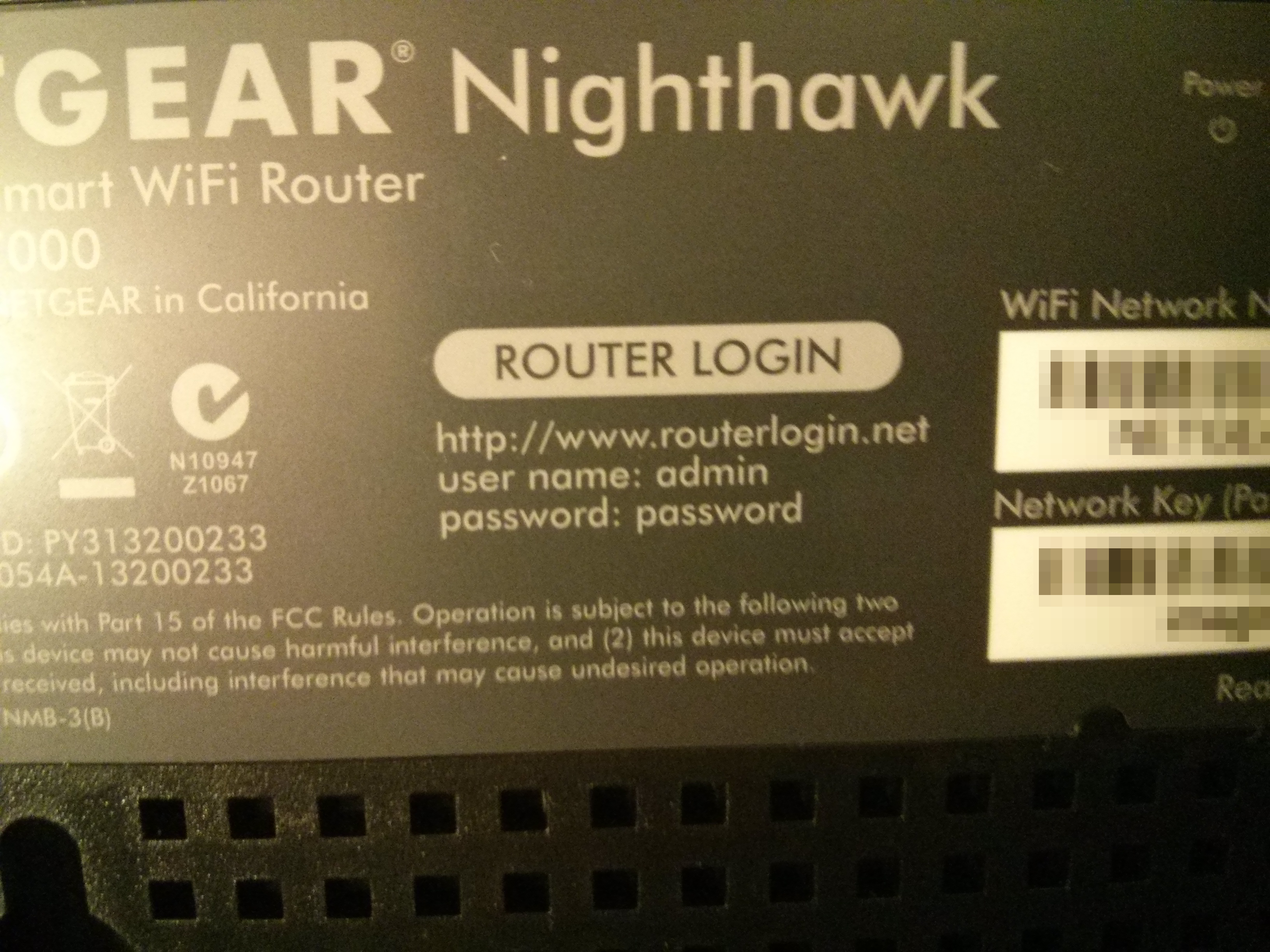 Picture of Login to the Router's Administration Page