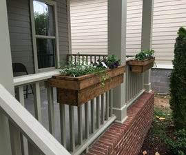 Simple Rail-Clamped Planter Box