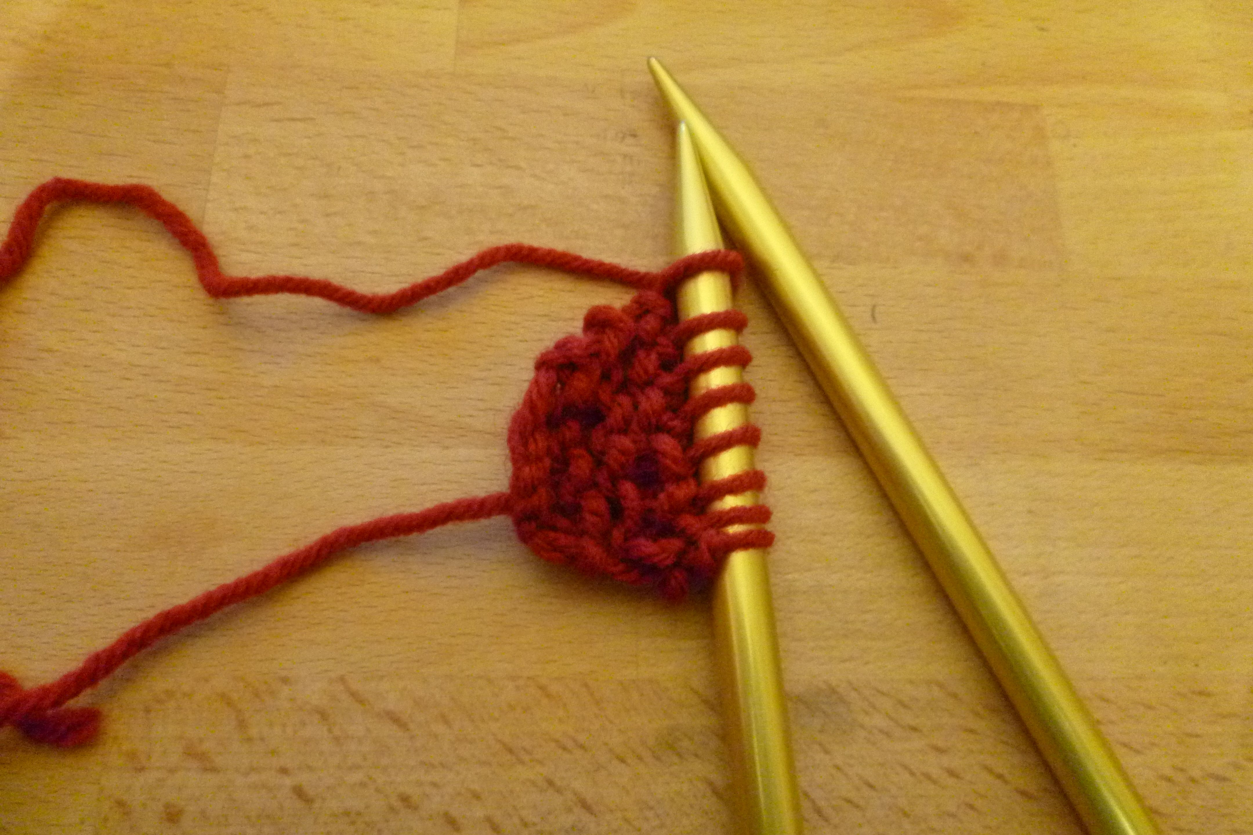 Picture of Rows 7-10: Knit