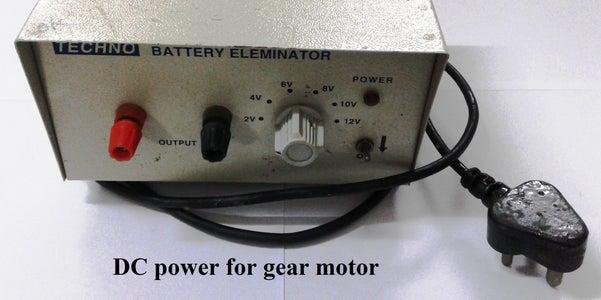 Powersupply for the Gear Motor