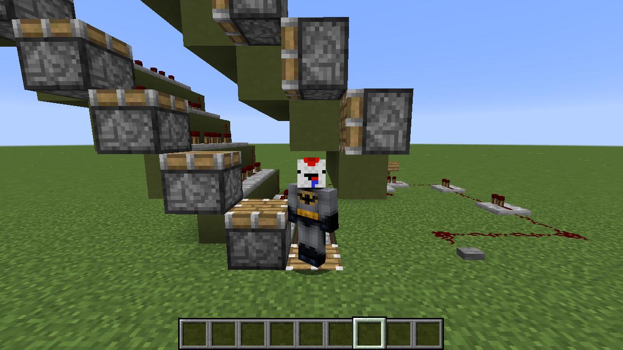Picture of Minecraft: Simple Working Escalator Tutorial