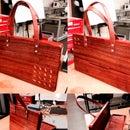 Wooden Handbag/Brief Case_Array of Leaves