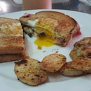 The Macho Man's Grilled Cheese