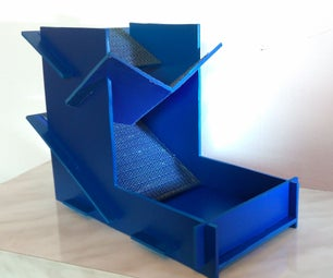 Double Slanted, Collapsible Dice Tower